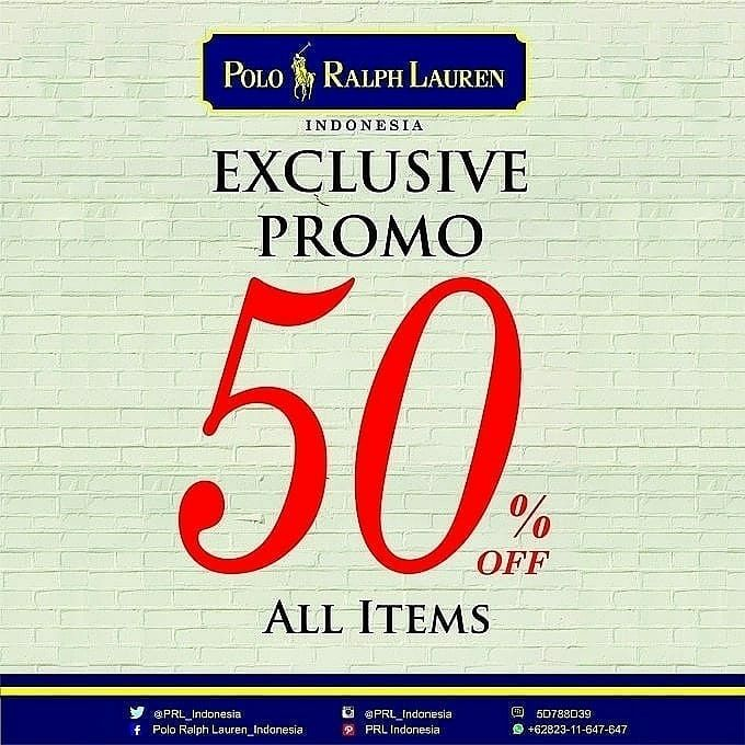 Discount Up to 50% from Polo Ralph Lauren