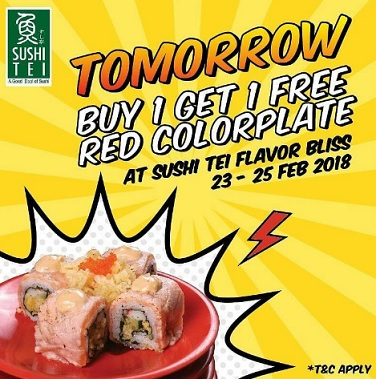 Buy 1 Get 1 Free Promo from Sushi Tei