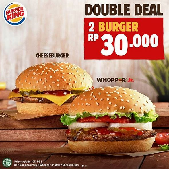 Double Deal Promotion at Burger King