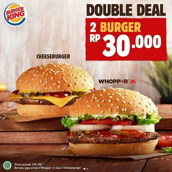 Promosi Double Deal di Burger King