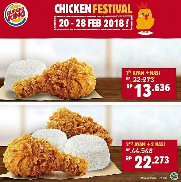 Promotion Chicken Festival at Burger King