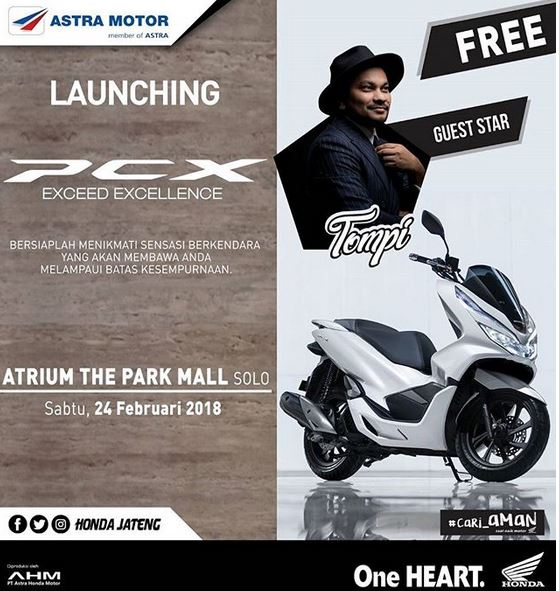Launching Honda PCX at The Park Solo