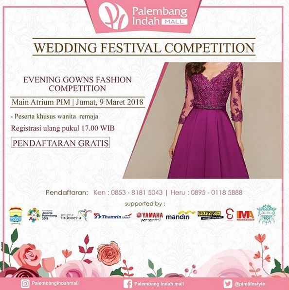 Evening Gowns Fashion Competition at Palembang Indah Mall