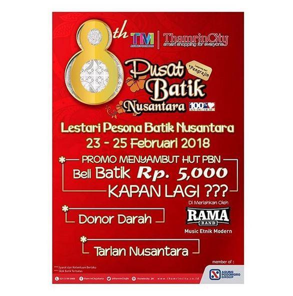 Pusat Batik Nusantara Di Thamrin City Februari 2018 Gotomalls