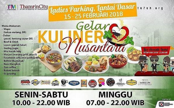 Gelar Kuliner Nusantara At Thamrin City Gotomalls