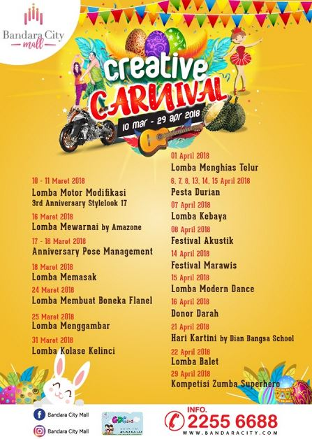 Creative Carnival at Bandara City Mall