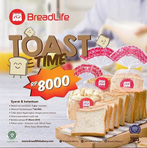 Toast Time Promotions from Breadlife