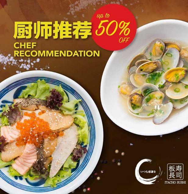 Discount 50% at Itacho Sushi</h3>
