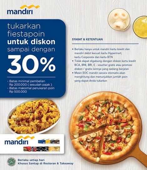 Discount 30% at Pizza Hut