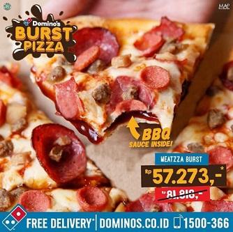 Special Price Rp 57,273 Meatzza Burst Promo at  Domino's Pizza
