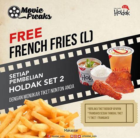 Free Fench Fries at Holdak Crispy Chicken