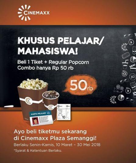 Promo Khusus Pelajar Dari Cinemaxx Maret 2018 Plaza Semanggi