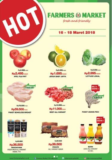 Weekend Promotion at Farmers Market