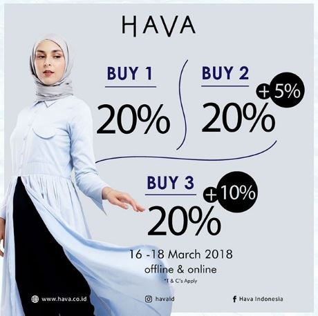 Get 20% Off from Hava