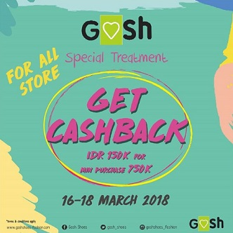 Cashback Rp 150,000 Promo from Gosh