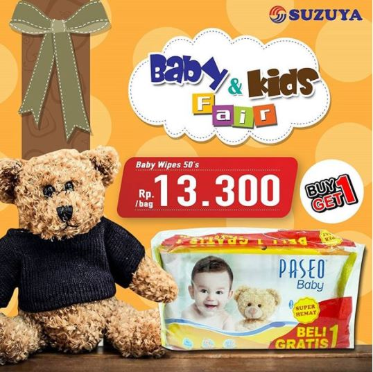 Promo Paseo Baby Wipes at Suzuya Market