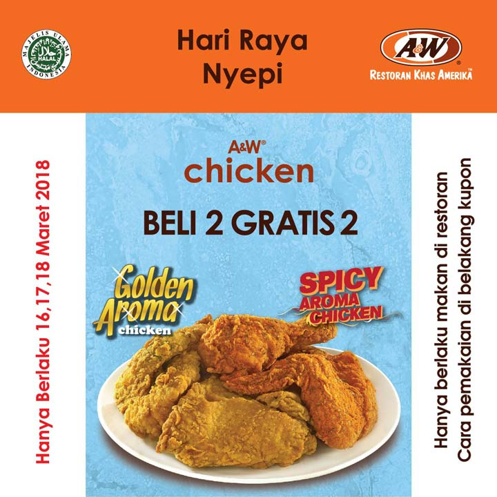 Buy 2 Get 2 Free from A&W