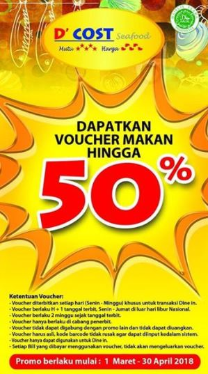 Up to 50% Voucher Promo at D'Cost