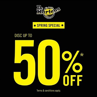 Promo Discount Up to 50% from Dr. Martens