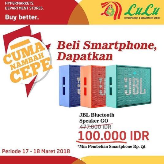 Special Price JBL Bluetooth Speaker Go at Lulu Hypermarket