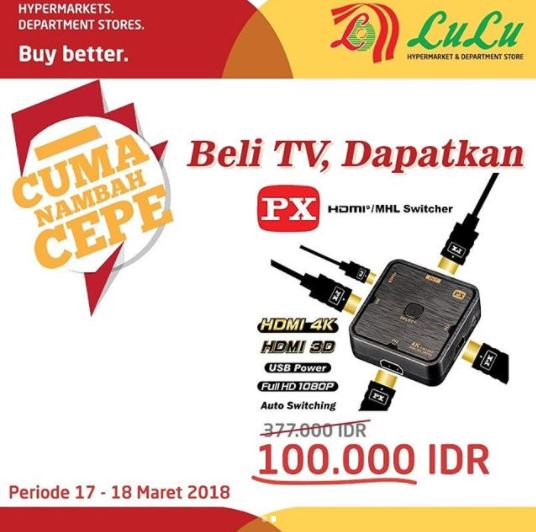 Special Price HDMI/MHL Switcher at Lulu Hypermarket