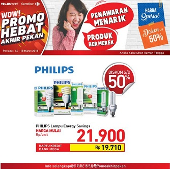 Promo Up to 50% Off Philips Light at Transmart Carrefour