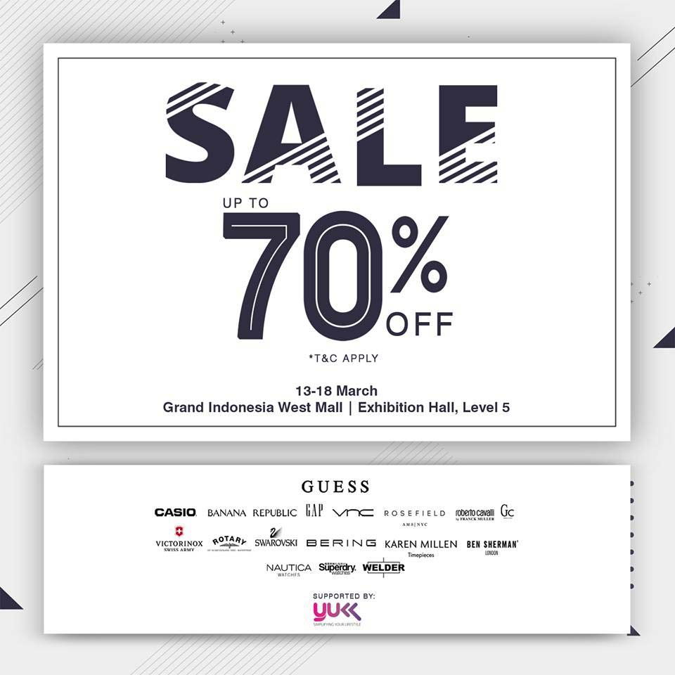 Sale Up to 70% from Grand Indonesia