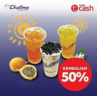Cashback 50% Promo with TCash at Chatime