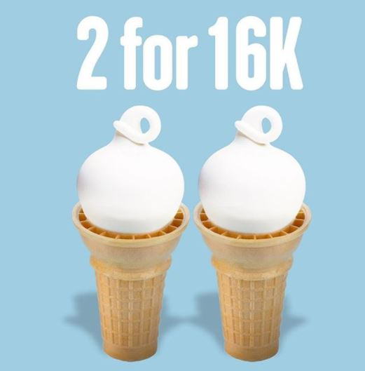Promo Buy 2 For Rp 16.000 on Dairy Queen