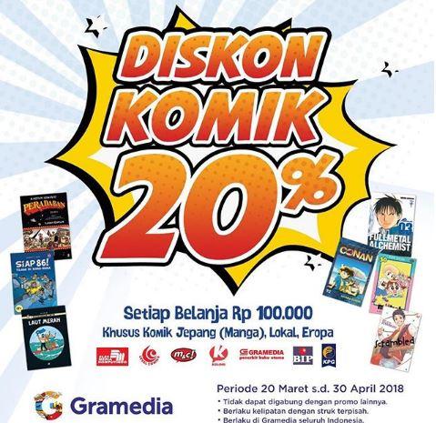Comic Discount 20% from Gramedia