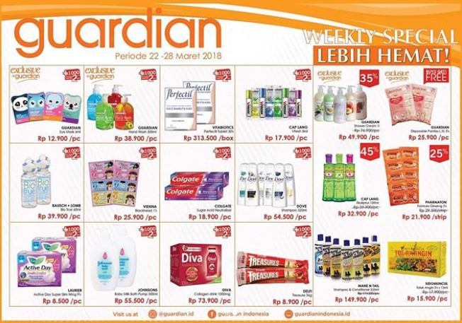 Promo Weekly Special Add Rp 1.000 Get 2 Pcs at Guardian