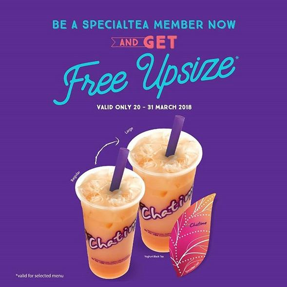 Free Upsize from Chatime