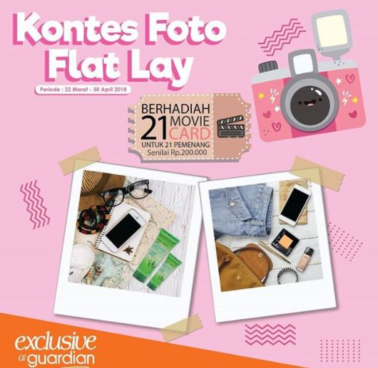 Event Kontes Foto Flat Lay di Guardian