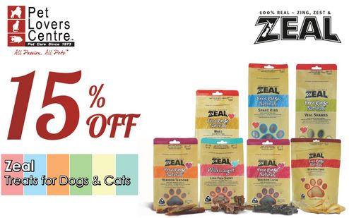 Zeal Treats For Dogs & Cats Promotion at Pet Lovers Centre