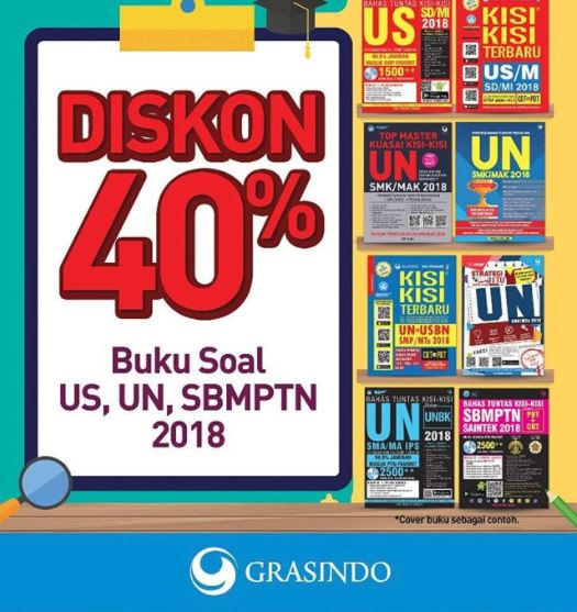 Discount 40% from Gramedia