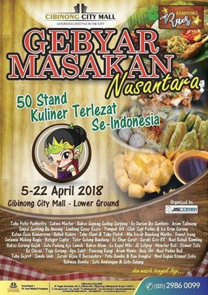 Gebyar Masakan Nusantara At Cibinong City Mall Gotomalls