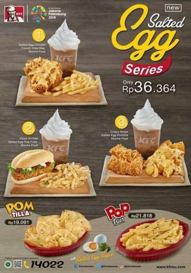 Salted Egg Series Promo at KFC