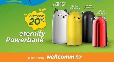 Eternity Powerbank Promotion at Wellcomm Shop