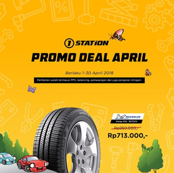 Special Price Rp 713 .000 Michelin Tire at 1Station
