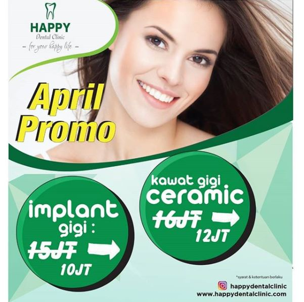 April Promotions from Happy Dental Clinic