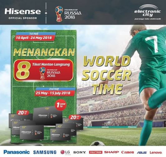 Win Football World Cup 2018 Tickets from Electronic City