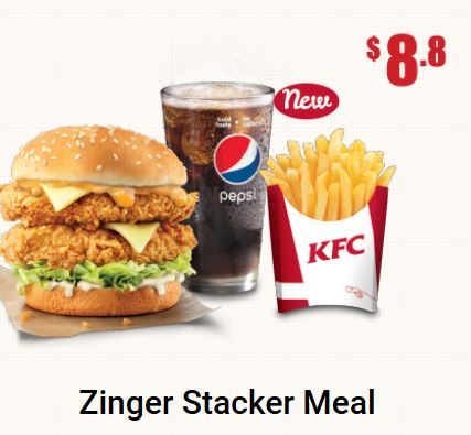 Zinger Stacker Meal Promotion at KFC
