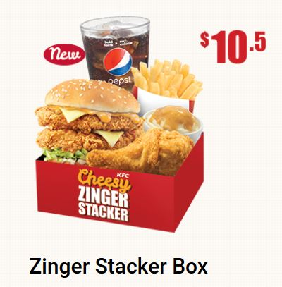 Zinger Stacker Box Promotion at KFC