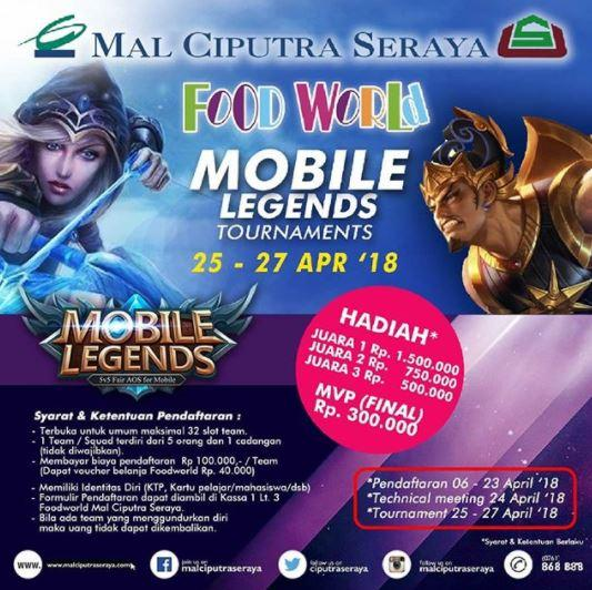 Event Mobile Legends Tournament at Ciputra Seraya Mall