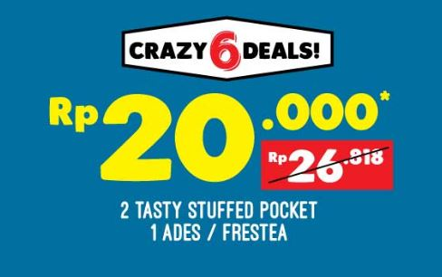 Special Price Tasty Stuffed Pocket at Domino Pizza