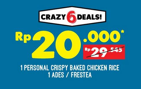 Personal Crispy Baked Chicken Rice Promotion at Domino Pizza