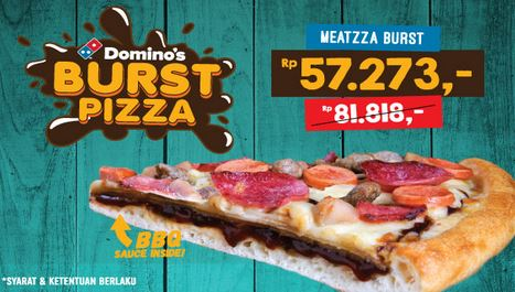 Meatzza BBQ Burst Promotion at Domino Pizza