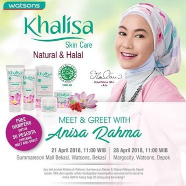 Meet & Greet with Anisa Rahma at Watsons Margocity Depok