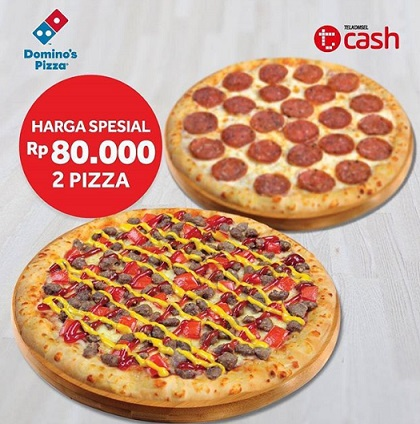 Buy 2 Pizza Only Rp 80.000 at Domino's Pizza