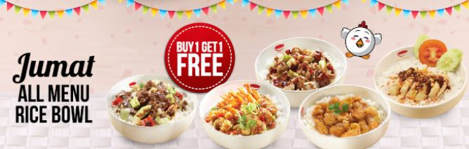 Buy 1 Get 1 Free at Rice Bowl